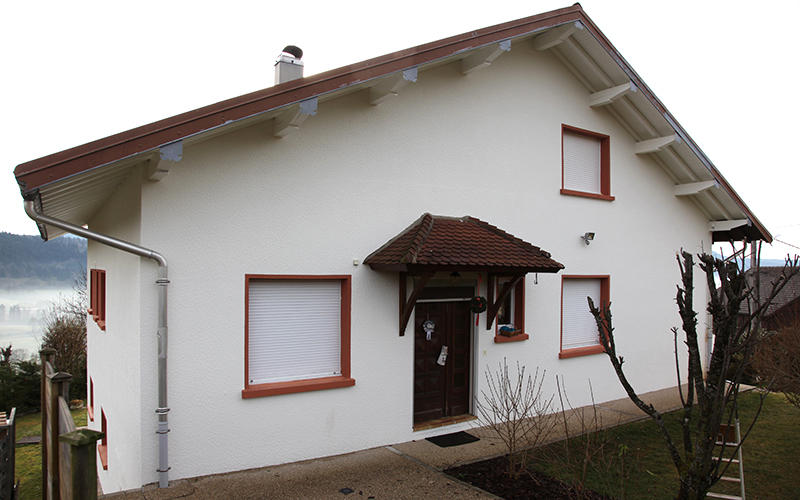 Fa ade et balcon peinture charles faivre pierret for Peinture balcon exterieur